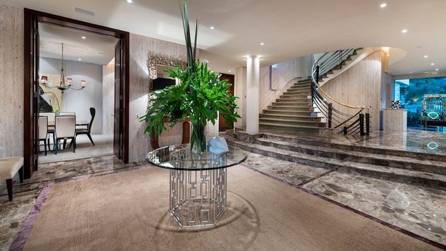 Stunning use of marble across the foyer. Picture: Realestate.com.au