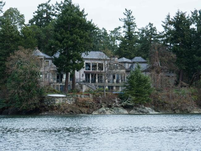 The residence of Prince Harry and and his wife Meghan in British Columbia, Canada. Picture: AFP