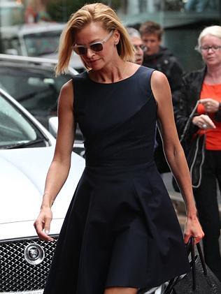 Sarah Murdoch arrives at the Charlotte Dawson memorial. Picture: Richard Dobson