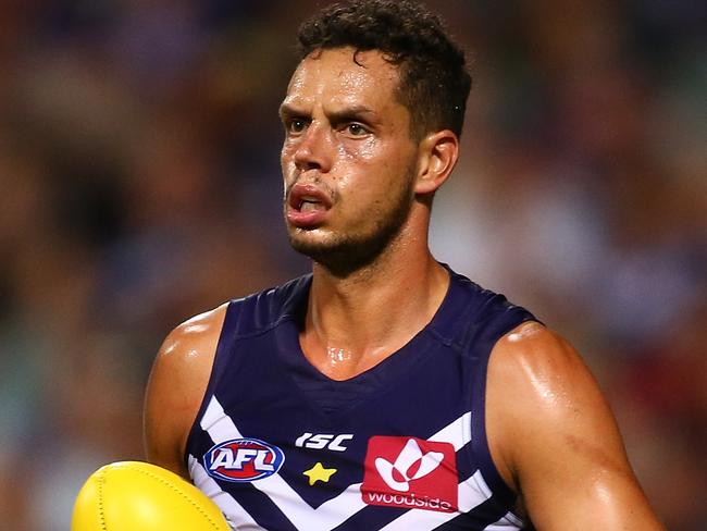 Veteran Docker Michael Johnson is under investigation over an alleged assault in a Leederville kebab shop in the early hours of Sunday morning. Picture: Paul Kane/Getty Images