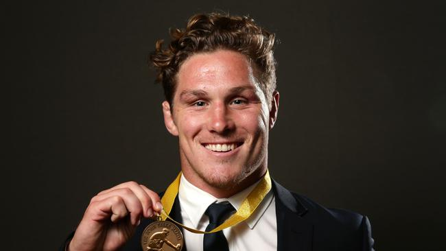 Michael Hooper after winning the John Eales Medal in 2016 at Royal Randwick Racecourse.