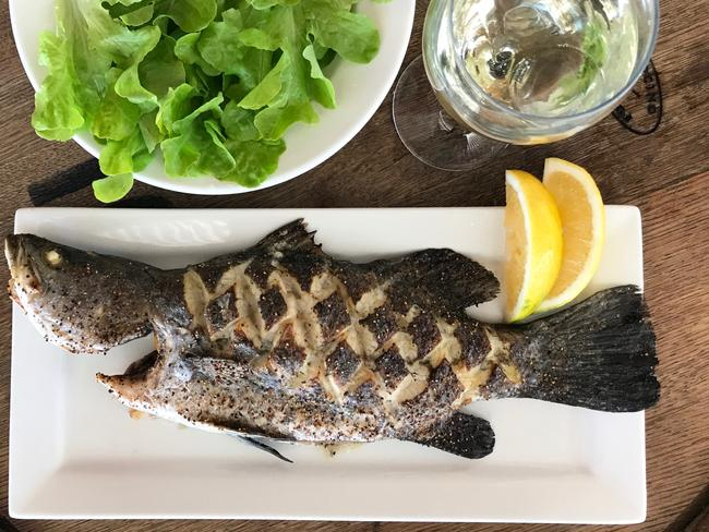 The Grilled Barramundi at Cookabarra Restaurant and Fish Farm. Picture: Jenifer Jagielski