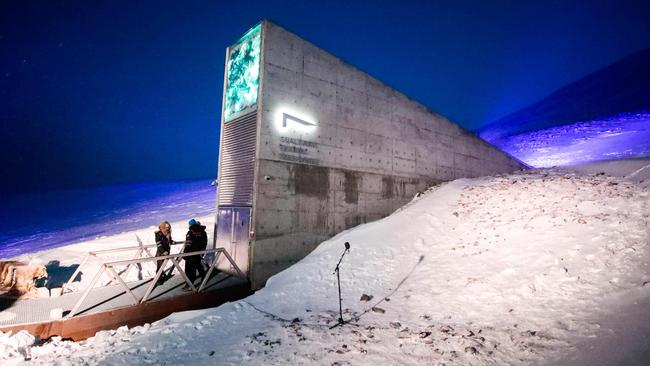 The international gene bank Svalbard Global Seed Vault is an arctic 'doomsday vault' which has 992,000 samples from around the world. Scientists want to recreate something similar on the moon. Picture: Lise Åserud / NTB Scanpix / AFP