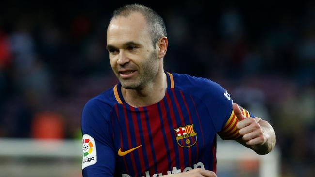 Barcelona midfielder Andres Iniesta is interested in a move away from Europe.