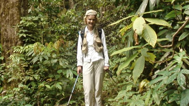 Annette in 2006, on her return to the crash site in Vietnam.