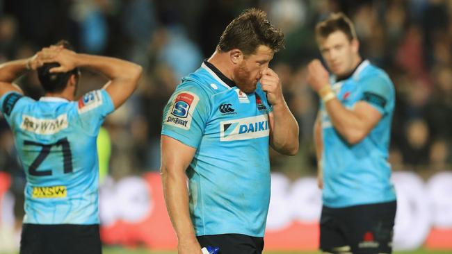 Paddy Ryan of the Waratahs after their loss to the Blues, the 38th consecutive loss by Australian teams to New Zealand teams.