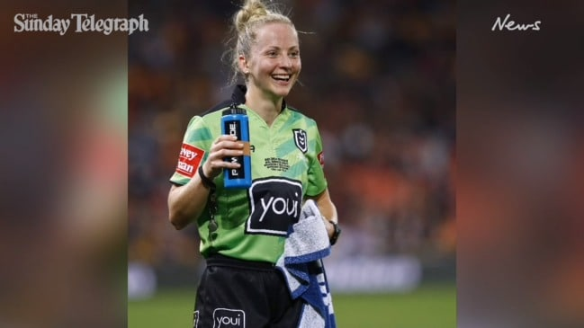 Day one for Australia's first female NRL referee