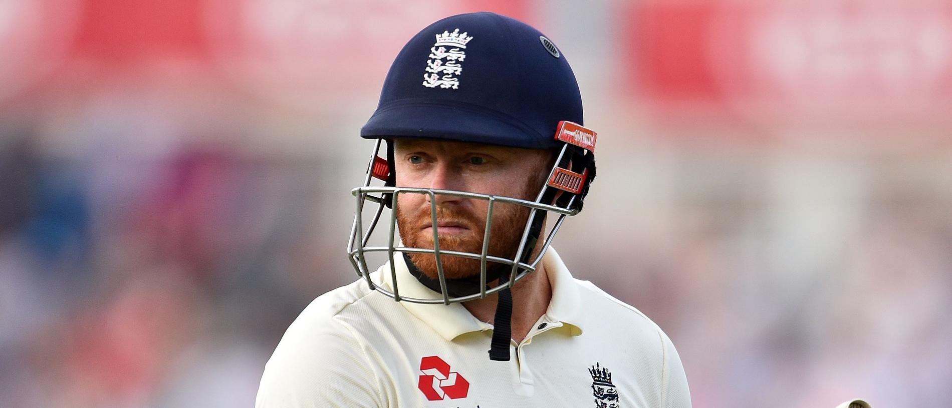 (FILES) In this file photo taken on September 12, 2019 England's Jonny Bairstow walks back to the pavilion after losing his wicket for 22 runs during play on the first day of the fifth Ashes cricket Test match between England and Australia at The Oval in London. - England have dropped Jonny Bairstow from their Test squad for the tour of New Zealand, with paceman James Anderson unavailable for the two-match series due to a calf injury. (Photo by Glyn KIRK / AFP) / RESTRICTED TO EDITORIAL USE. NO ASSOCIATION WITH DIRECT COMPETITOR OF SPONSOR, PARTNER, OR SUPPLIER OF THE ECB