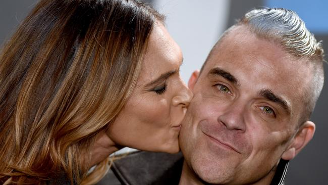 Williams and wife Ayda Field met at the peak of his addiction. Picture: Axelle / Bauer-Griffin / Film Magic.