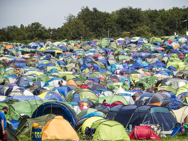 Tents at Glastonbury Festival inSomerset, England, Friday, June 28, 2019. Temperatures are expected to soar over the weekend. Picture: Joel C Ryan/Invision/AP