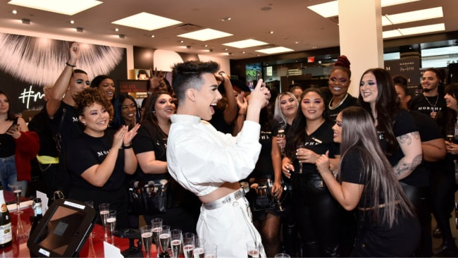 James Charles greets fans at his Morphe meet and greet in December last year. Image: Getty Images;
