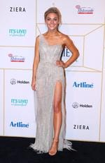 Sam Frost arrives at the 60th Annual Logie Awards at The Star Gold Coast on July 1, 2018 in Gold Coast, Australia. Picture: Chris Hyde/Getty Images