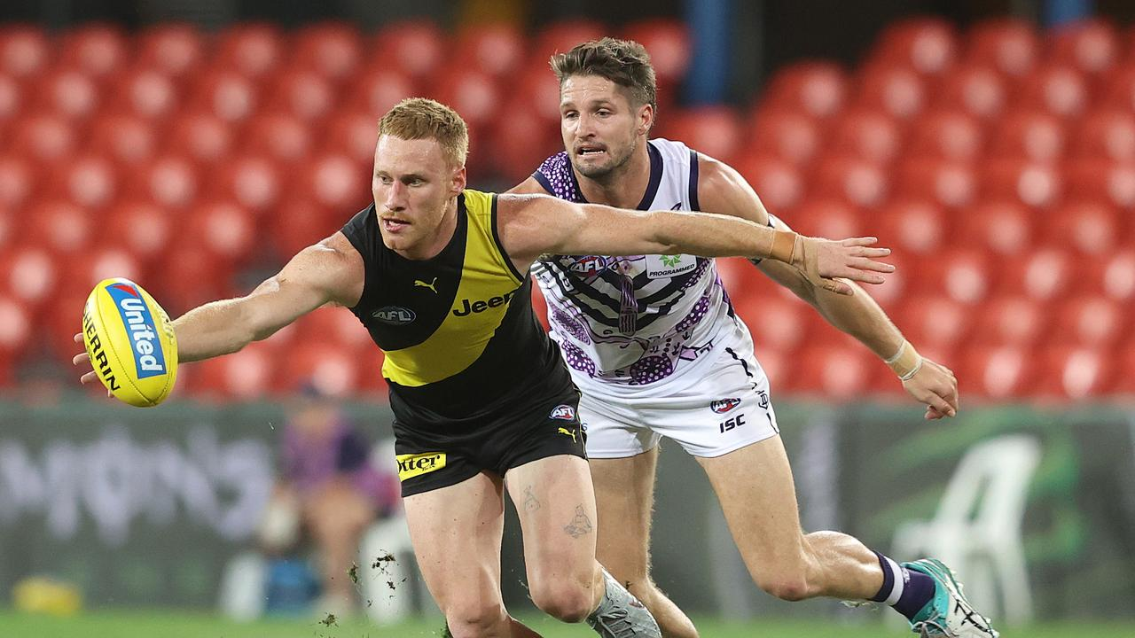 Jesse Hogan has recently returned to the Fremantle side. Photo: Chris Hyde/Getty Images.