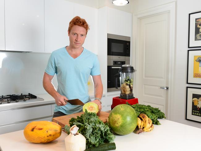 Former AFL player Matthew Bate is one of many who've 'made the connection' and embraced a meat-free lifestyle. Picture: Lawrence Pinder