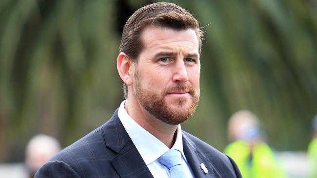 Ben Roberts-Smith during the 2017 Anzac Day march through Melbourne's CBD. Picture: Aaron Francis/The Australian