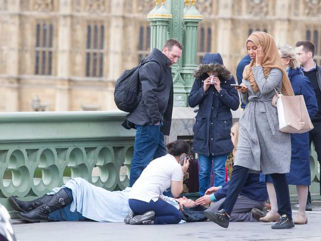 This photo is being circulated on social media to generate outrage against Muslims in the wake of the London terror attacks. Picture: REX/Shutterstock/australscope