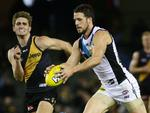 Round 17: Travis Boak in action against Richmond. Picture: Colleen Petch
