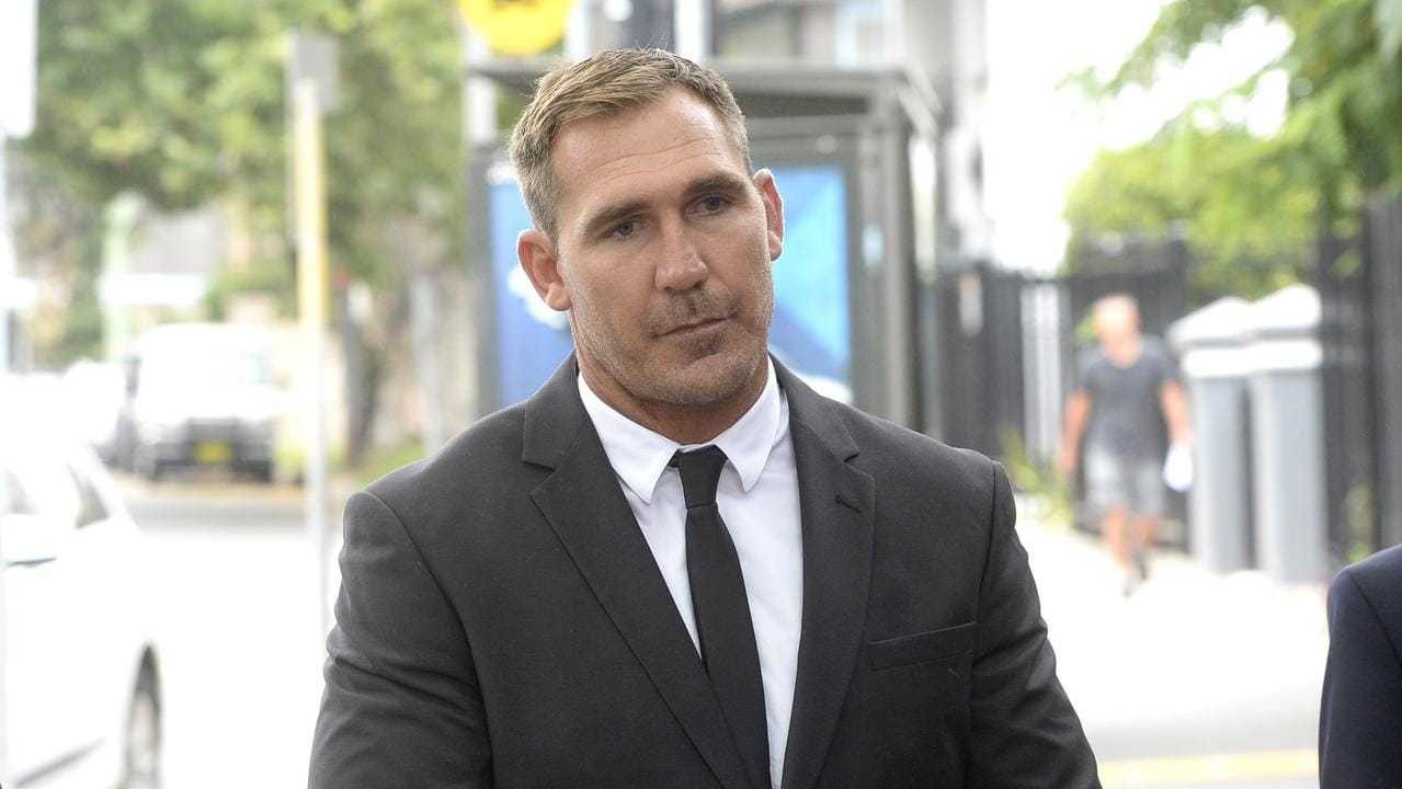 NRL player Scott Bolton arrives at Waverley Court in Sydney on Monday, January 7, 2019. (AAP Image/Jeremy Piper)