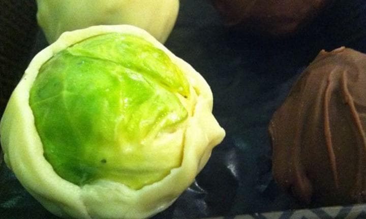 2. Make brussel sprout 'chocolate truffles'. Deception is the best way to get them eating their veggies, right?