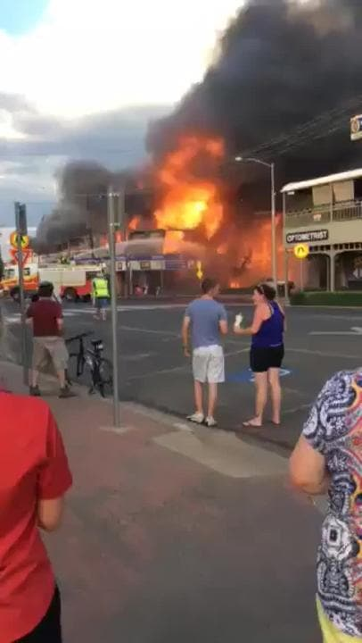 Historic pub goes up in flames