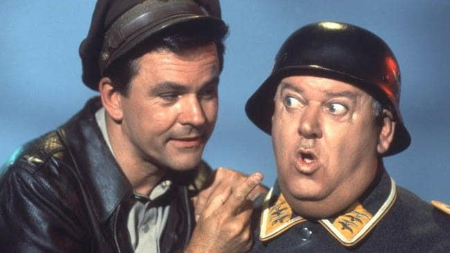 Crane (at left) was beloved by millions thanks to his starring role in Hogan's Heroes.