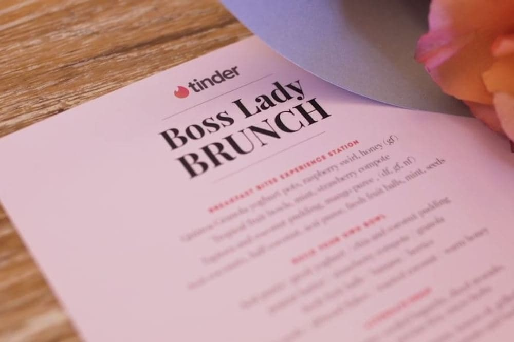 All about Tinder's Boss Lady Brunch series
