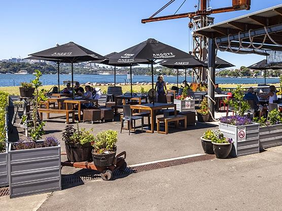 The Societe Overboard Cafe offers a great view. Picture: Geoff Magee
