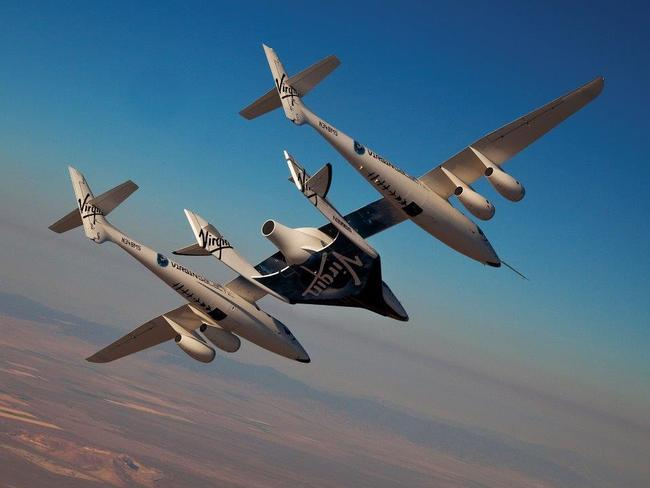 The dream ... How Virgin Galactic promoted its SpaceShipTwo flights. Picture: Supplied