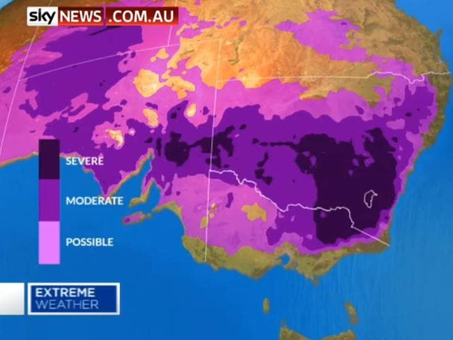 Frost is forecast in the Northern Territory on Thursday. Picture: Sky News
