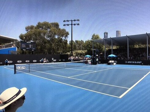 The Australian Open international feed switched to an unfamiliar angle.