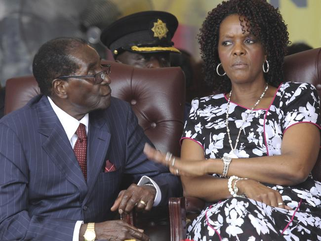 Robert Mugabe and his wife Grace attend his birthday celebrations in Masvingo. Picture: AP Photo/Tsvangirayi Mukwazhi, File.