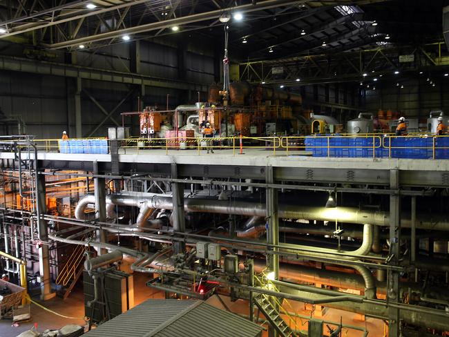The turbine hall at Liddell Power Station in the Hunter Valley. Picture: Jane Dempster/The Australian.