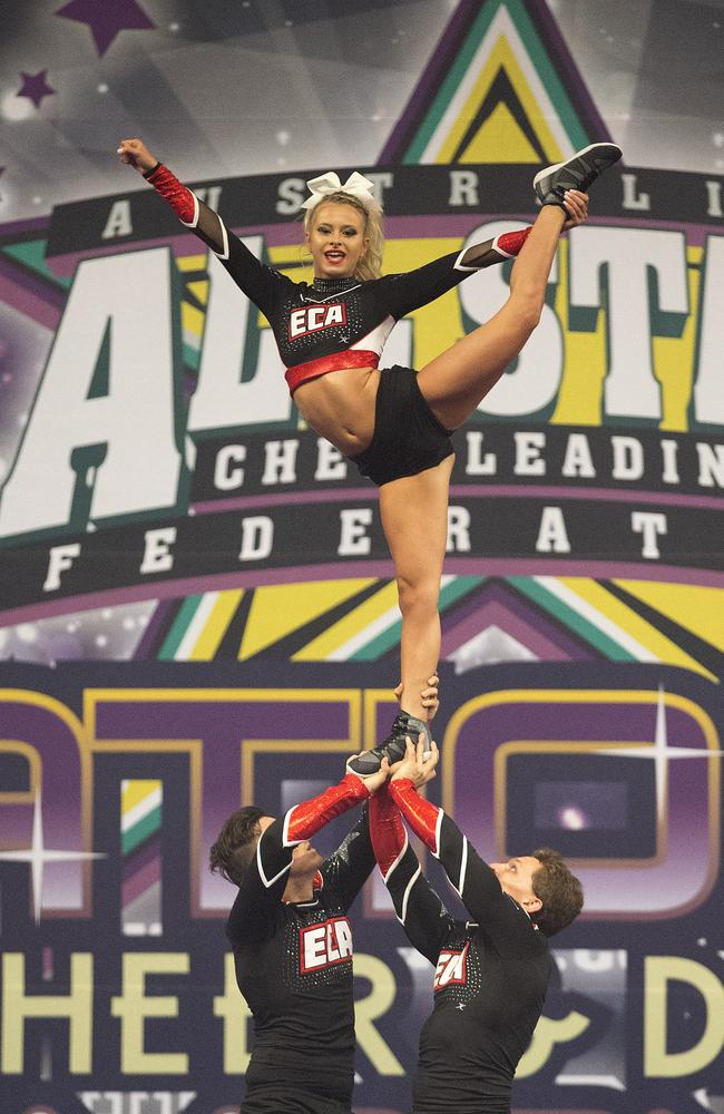 A performer at the All Star National Cheerleading Championships. Picture: Jerad Williams