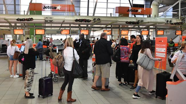 Jetstar passengers could be in for delays and cancellations as workers will walk off the job for 24 hours. Picture: AAP Image/Mick Tsikas