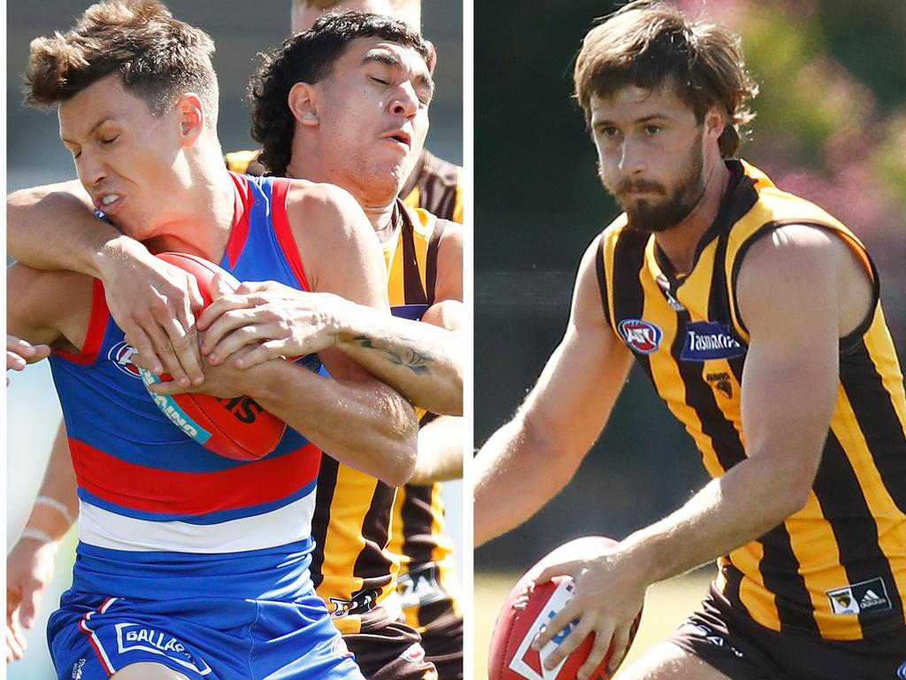Bulldogs rookie Lachie McNeil impressed among many new faces, while Hawthorn bargain recruit Tom Phillips looked the goods in Wednesday's scratch match.
