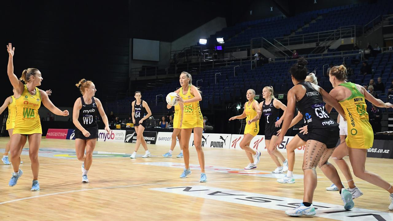Goal shooter Cara Koenen was outstanding for the Diamonds. Picture: Getty Images