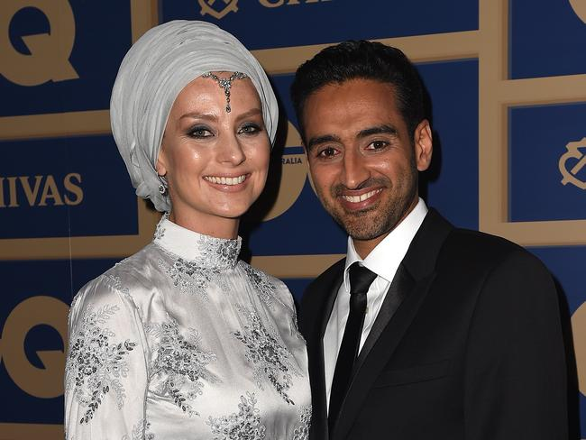 Susan Carland and television presenter Waleed Aly at the GQ Men of the Year awards.