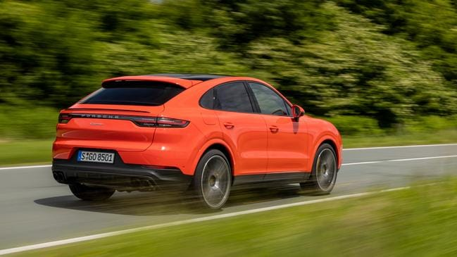 The Coupe is much more agile than the regular Cayenne SUV.