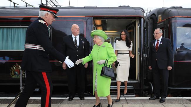 We're guessing the royal train is much nicer than public transport. Picture: Peter Byrne