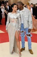 "Kim Kardashian West and Kanye West attends the ""Manus x Machina: Fashion In An Age Of Technology"" Costume Institute Gala at Metropolitan Museum of Art on May 2, 2016 in New York City. Picture: Getty"
