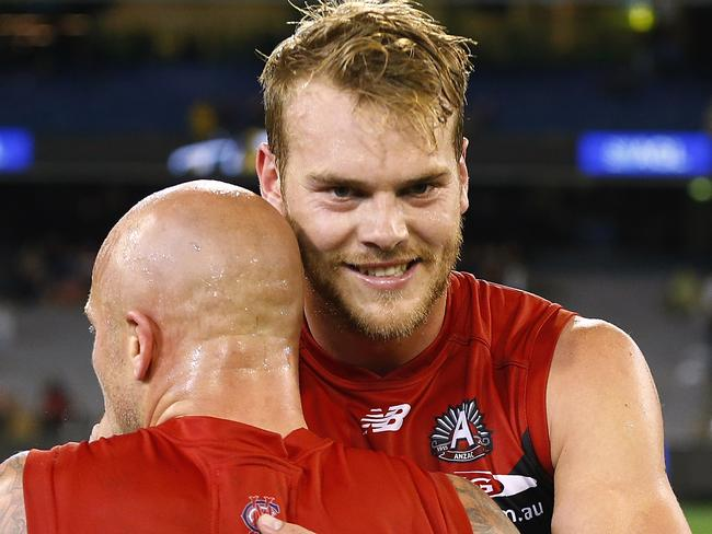 Skipper Nathan Jones has stood up for Jack Watts. Picture: Wayne Ludbey