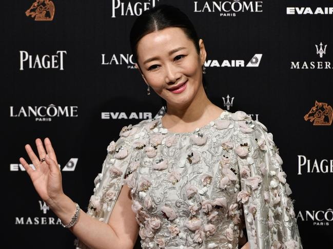 Chinese actress Zhao Tao pictured on the red carpet of the 55th Golden Horse film awards, dubbed the Chinese 'Oscars'. Picture: Sam Yeh/AFP