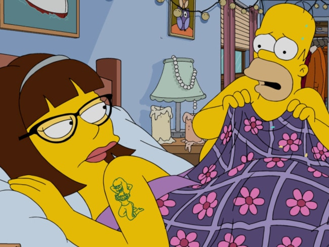 """Lena Dunham guest voices in the """"Every Man's Dream"""" season 27 premiere episode of The Simpsons."""