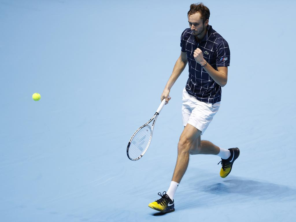 Daniil Medvedev got the job done against Novak Djokovic.