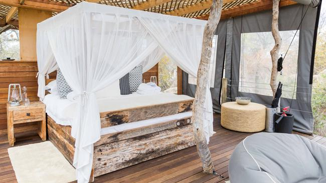 Stay in a jungle tree house and fall asleep to sounds of the wildlife. Picture: Tyson Mayr