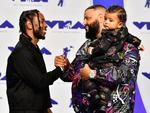 Kendrick Lamar and DJ Khaled attend the 2017 MTV Video Music Awards at The Forum on August 27, 2017 in Inglewood, California. Picture: Getty