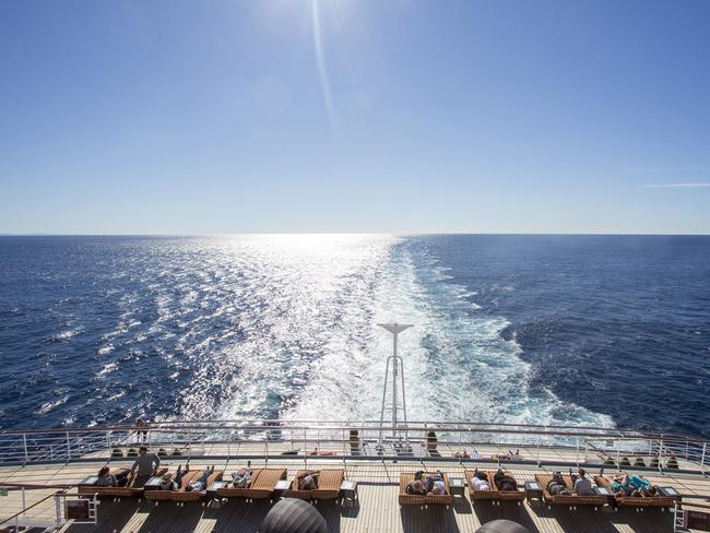 If you want to relax on the deck, go for it. Picture: P&O Cruises.