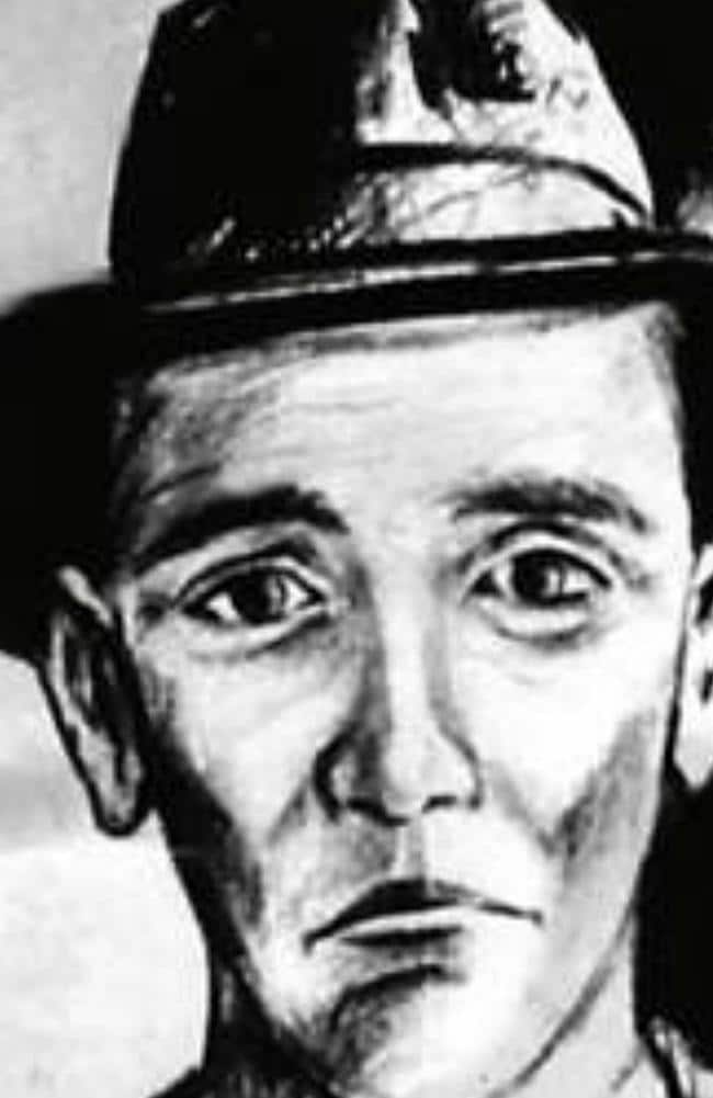 A police sketch of the man believed to have abducted Joanne Ratcliffe and Kirste Gordon. Picture: Supplied