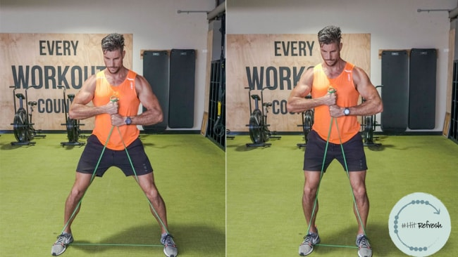 Sam Wood S 7 Move Resistance Band Workout Will Sculpt Your Arms