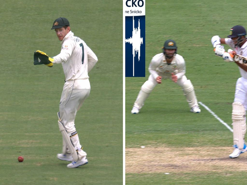 Tim Paine dropped a chance off Mitch Starc's bowling.
